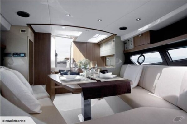 lounge area on a boat