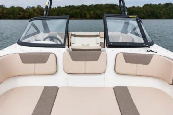 mini lounge area on yacht
