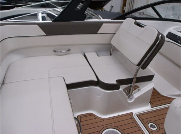small deck area on a boat