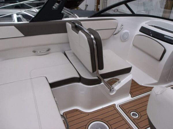 small seat area on a boat