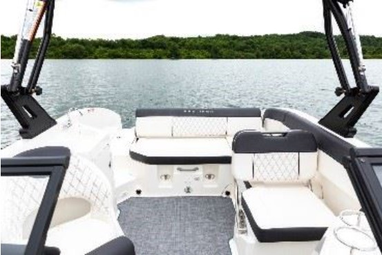 deck lounge area on a boat