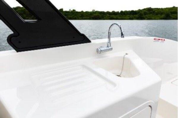 mini sink on a boat