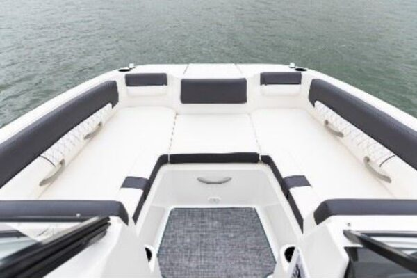 small filler cushion at the front of the boat