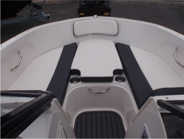two seat with cockpit table in the middle