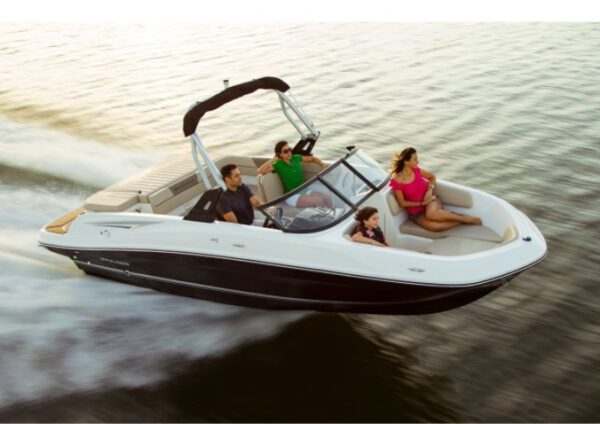 people on a speedboat