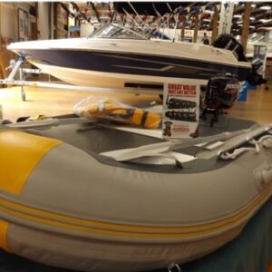 side view of yacht inflatable boat