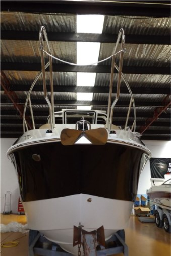 front view of the boat