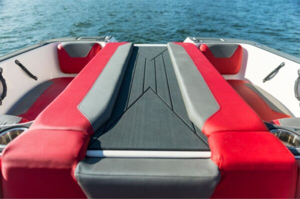 two sun lounger on a yacht