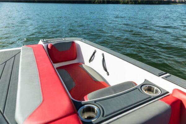 mini sun lounger on speedboat