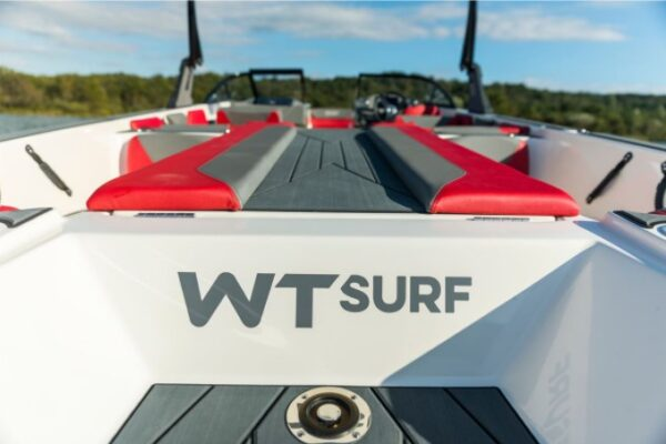 wt surf name logo of the boat