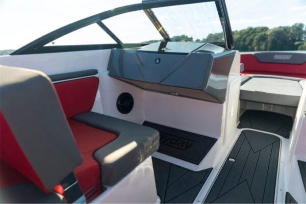 passenger seat on a yacht