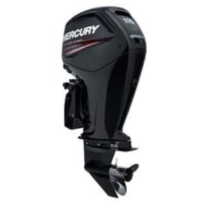one black outboard motor