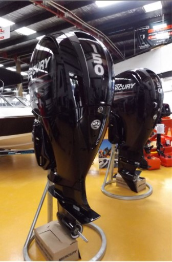 two black outboard motor