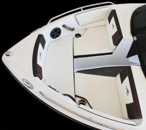 three seat cushion on a boat