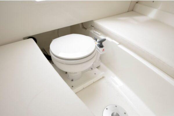 one toilet bowl