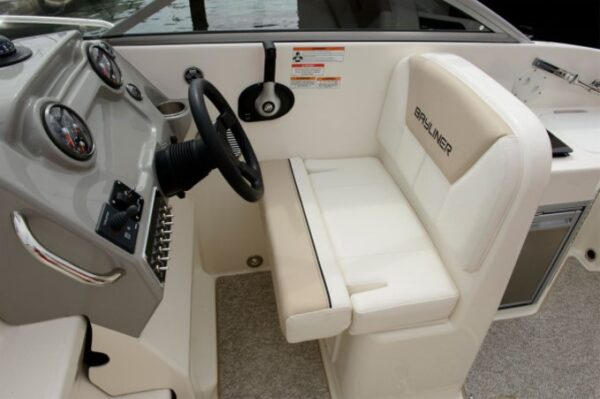 driver's seat and steering wheel