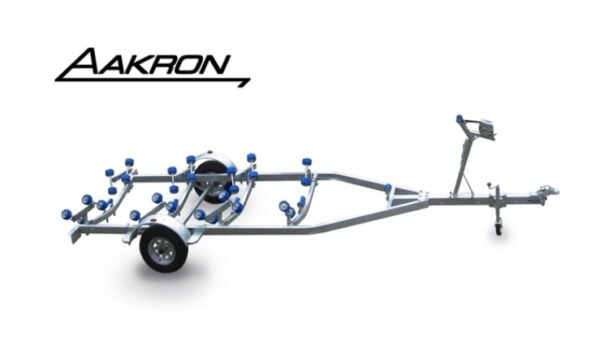 boat trailer with blue rollers